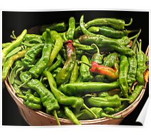 Bushel of Hot Peppers Poster