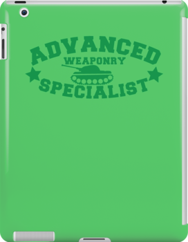 Advanced Weaponry Specialist with green army tank by jazzydevil