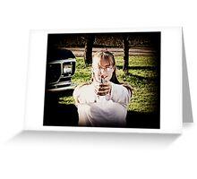 Warning:Imaginary Bullets  Greeting Card