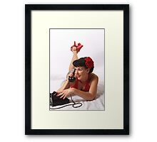 Tell me more! Framed Print