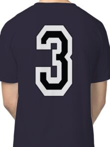 3, TEAM, SPORTS, NUMBER 3, THREE, THIRD, Competition Classic T-Shirt