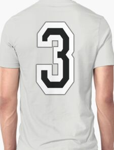 3, TEAM, SPORTS, NUMBER 3, THREE, THIRD, Competition Unisex T-Shirt
