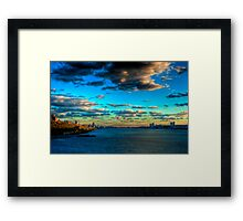 Touch the Sky: Midtown Manhattan from the Hudson River (HDR) Framed Print