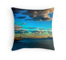 Touch the Sky: Midtown Manhattan from the Hudson River (HDR) Throw Pillow