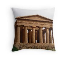 Temple of Concordia - Valley Of The Temples - Agrigento, Sicily  Throw Pillow