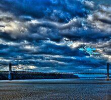Bridge Below Troubles Skies:  George Washington Bridge, NYC (HDR) by Dave Bledsoe