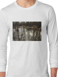 Of Trees and Mirrors - Prince Edward County Forest Long Sleeve T-Shirt