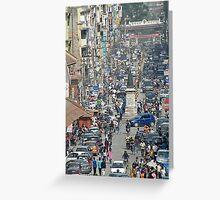 Kathmandu streetscape Greeting Card
