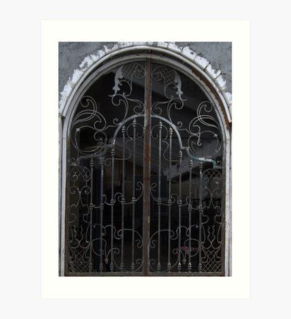 Wrought Iron gates 03 Art Print