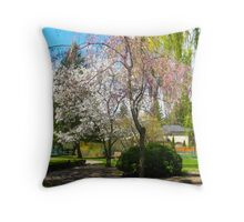 The Graceful Bouquets of Trees Throw Pillow