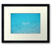 Cool for the Summer Framed Print