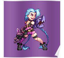 Jinx - pixel art Poster