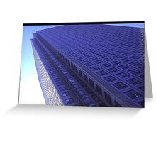 Blue Building Greeting Card