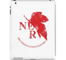 Grunged NERV iPad Case/Skin