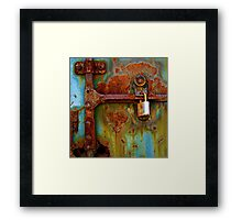 Locked Down Blues Framed Print