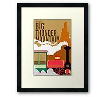 Big Thunder Mountain Poster Framed Print