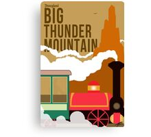 Big Thunder Mountain Poster Canvas Print