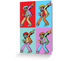 Scott Pilgrim Pop Art Greeting Card