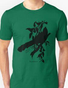 Black Elegant Trogon silhouette T-Shirt