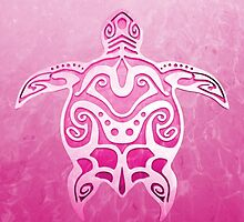 Tribal Turtle pink by BailoutIsland