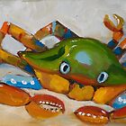 Crabby Billy, crab at the beach by artbydelilah