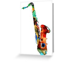 Colorful Saxophone by Sharon Cummings Greeting Card