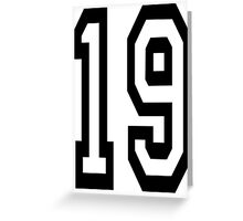 TEAM SPORTS, NUMBER 19, NINETEEN, NINETEENTH, Competition,  Greeting Card
