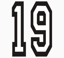 TEAM SPORTS, NUMBER 19, NINETEEN, NINETEENTH, Competition,  Kids Clothes