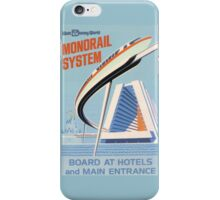 Walt Disney World Monorail Poster iPhone Case/Skin