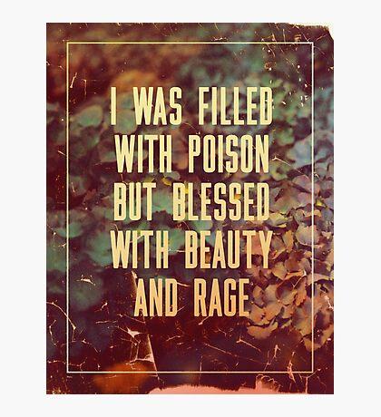 Beauty & Rage Photographic Print