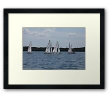Sailboats on the Lake  Framed Print