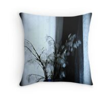 Quarry Life in Blue Throw Pillow