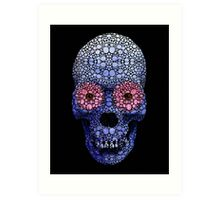 Skull Art - Day Of The Dead 1 Stone Rock'd Art By Sharon Cummings Art Print