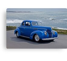 1938 Ford Deluxe Coupe I Canvas Print