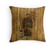Historical Sailing Ship Throw Pillow