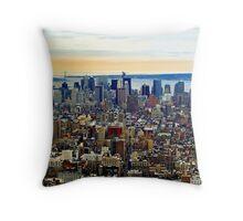 Manhatten, New York City Throw Pillow