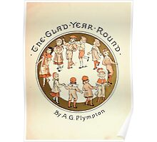 The Glad Year Round for Boys and Girls by Almira George Plympton and Kate Greenaway 1882 0007 Title Plate Poster