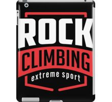 Rock Climbing Extreme Sport Black iPad Case/Skin