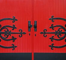 Red Doors by Jennifer Hulbert-Hortman