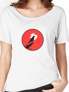 The Crow (red sky) Women's Relaxed Fit T-Shirt