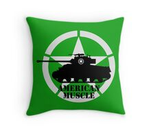American Muscle WW2 Throw Pillow