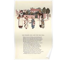 LIttle Ann and Other Poems by Jane and Ann Taylor art Kate Greenaway 1883 0050 The Wooden Doll and the Wax Doll Poster