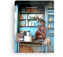 Indian tea boy in Kolkata, West Bengal Metal Print