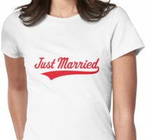 Just Married (Marriage / Wedding / Red) Womens Fitted T-Shirt