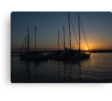Sicilian Sunset at the Syracuse Harbour  Canvas Print