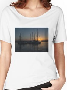 Sicilian Sunset at the Syracuse Harbour  Women's Relaxed Fit T-Shirt