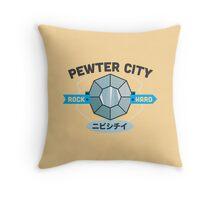Kanto Gym Logos - Pewter City (2015) Throw Pillow