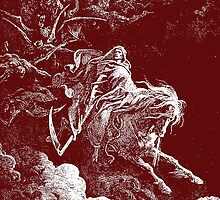 DEATH, Death on the Pale Horse, Revelation, Revenge, Gustave Doré, (1865), Revelations, Seven Seals by TOM HILL - Designer