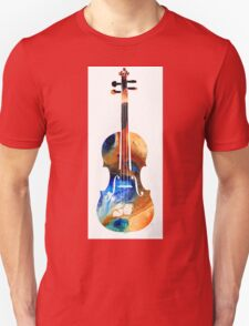 Violin Art by Sharon Cummings Unisex T-Shirt