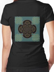 Five Star Flowers Women's Fitted V-Neck T-Shirt